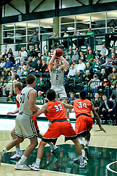 BLOOMINGTON, IL - December 15: Peter Lambesis during a college basketball game between the IWU Titans  and the Carroll Pioneers on December 15 2018 at Shirk Center in Bloomington, IL. (Photo by Alan Look)
