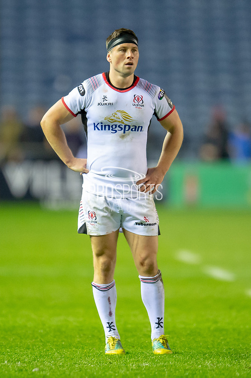 John Cooney (#9) of Ulster Rugby during the Guinness Pro 14 2018_19 match between Edinburgh Rugby and Ulster Rugby at the BT Murrayfield Stadium, Edinburgh, Scotland on 12 April 2019.