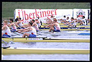 Munich, GERMANY   Heat of the M4-.  GBR M4- Bow, James CRACKNELL, Steve REDGRAVE, Luka GRUBER, and Matt PINSENT. 1998 FISA World Cup, Munich Olympic Rowing Course, 29-31 May 1998.  [Mandatory Credit, Peter Spurrier/Intersport-images] 1998 FISA World Cup, Munich, GERMANY