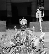 Alake on His Throne, Abeokuta, Nigeria, Africa, 1937