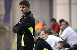 Coach of Olimpija Robert Begus at  handball game between women team RK Olimpija vs ZRK Brezice at 1st round of National Championship, on September 13, 2008, in Arena Tivoli, Ljubljana, Slovenija. Olimpija won 41:17. (Photo by Vid Ponikvar / Sportal Images)