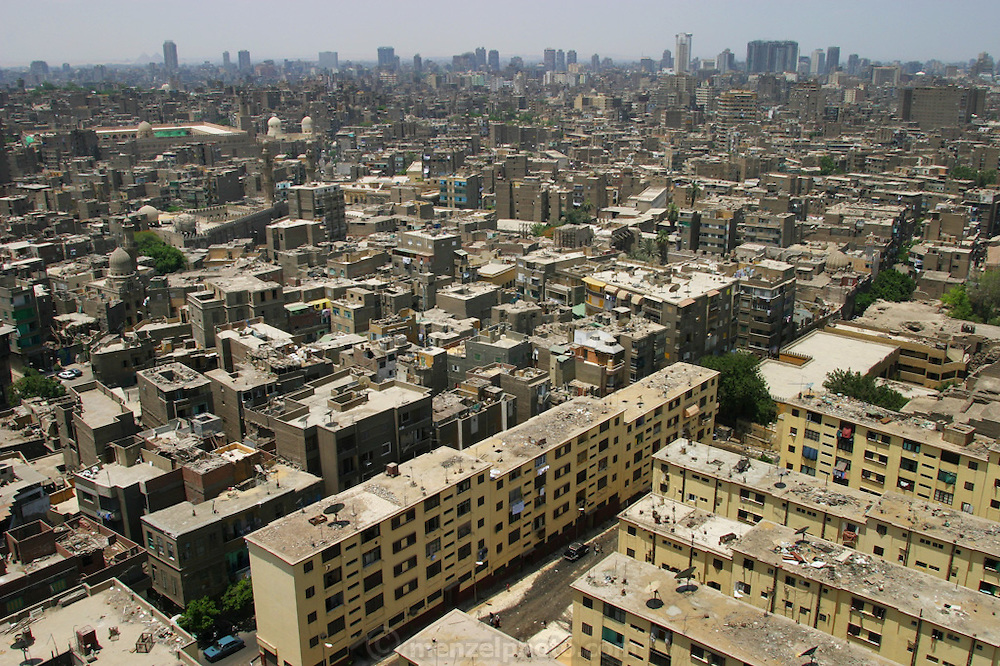 Apartments buildings and skyline, Cairo, Egypt.