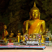 Buddha at Khao Luang Cave This picturesque cave, some 5 kilometers from Khao Wang, in Phetachaburi province, contains a Buddha image cast by the royal command of King Chulalongkorn to honour his father, King Mongkut.