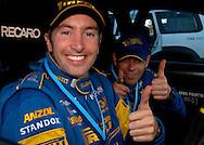 Cody Crocker & Greg Foletta - Portrait.Subaru Impreza WRX.2003 Falken Rally of Queensland.Imbul State Forest, QLD.13th-15th of June 2003 .(C) Joel Strickland Photographics