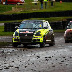 British Rallycross Championship Round 1 Lydden Hill 16th March 2013 Suzuki Swift Winner Graham Rodemark Claims victory (c) MATT BRISTOW | StockPix.eu