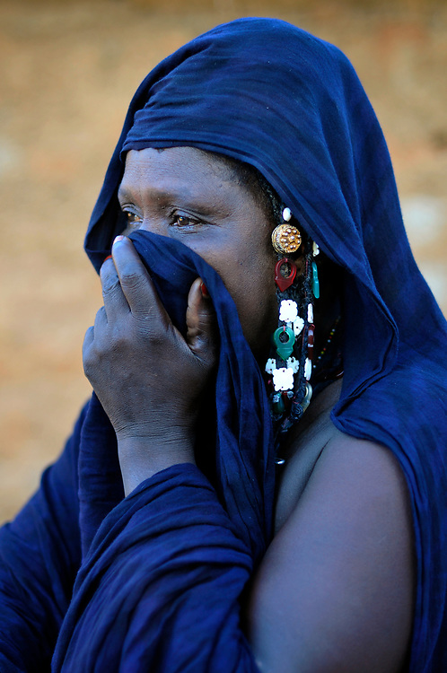 A woman in a Moor village severely affected by climate change induced drought in the Sahel.<br />