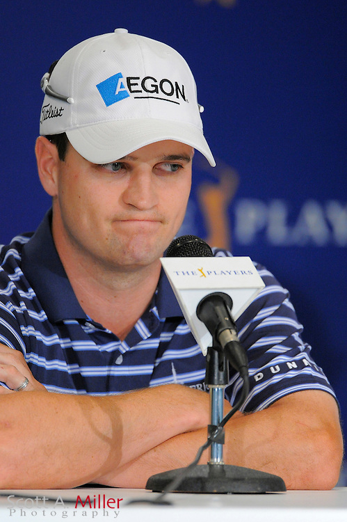 Zach Johnson speaks to the media during a pre-tournament press conference at TPC Sawgrass on May 5, 2009 in Ponte Vedra Beach, Florida.     ©2009 Scott A. Miller