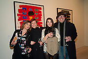 SOPHIE HASTINGS; KELLY DEARSLEY; MACKENZIE DEARSLEY; RICHARD STRANGE, Brian Clarke: Works On Paper - private view. Saatchi Gallery, Duke Of York's HQ, Sloane Square, London1 March 2011. -DO NOT ARCHIVE-© Copyright Photograph by Dafydd Jones. 248 Clapham Rd. London SW9 0PZ. Tel 0207 820 0771. www.dafjones.com.