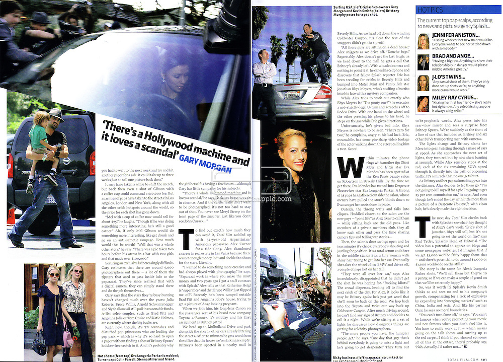 Total Film Magazine (UK) Summer 2008 Issue...30th January 2008, Los Angeles, California.  Paparazzi photographer swarm and fight to get a non exclusive photo of Britney Spears leaving a restaurant. PHOTO © JOHN CHAPPLE / REBEL IMAGES.john@chapple.biz    www.chapple.biz