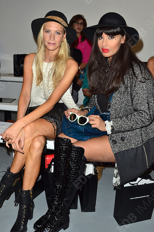 14.SEPTEMBER.2012. LONDON<br /> <br /> CELEBRITIES ATTEND ZOE JORDAN LFW CATWALK SHOW<br /> <br /> BYLINE: EDBIMAGEARCHIVE.CO.UK<br /> <br /> *THIS IMAGE IS STRICTLY FOR UK NEWSPAPERS AND MAGAZINES ONLY*<br /> *FOR WORLD WIDE SALES AND WEB USE PLEASE CONTACT EDBIMAGEARCHIVE - 0208 954 5968*