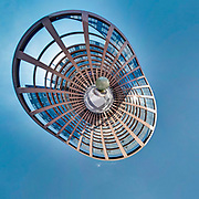 360 Panoramic View (Tiny Planet) of the European Parliament in Strasbourg