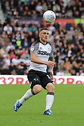 Derby County forward Jack Marriott during the EFL Sky Bet Championship match between Derby County and Birmingham City at the Pride Park, Derby, England on 28 September 2019.