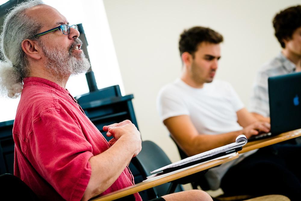 SARASOTA, FL -- August 19, 2016 -- Students Metaphysics Survey at New College of Florida in Sarasota, Florida. (PHOTO / New College of Florida, Chip Litherland)