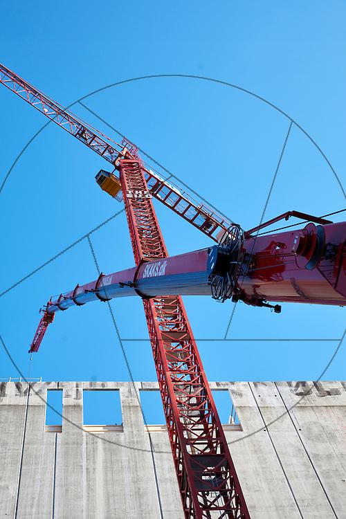 DLG-siloen Nordhavn, UNIONkul, ombygning af kornsilo til luksuslejligheder, Klaus Kastbjerg, kraner, betonelementer