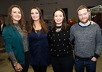 Repro FREE:    Melissa Clancy, Micheal Frank and her Sister Louise Clancya nd Margaret Fitzpatrick and Ends Geoghegan from Training Matter  at the Portershed for the  IBYE2016 awards awarded by the Local Enterprise Office.<br /> Photo:Andrew Downes, xposure