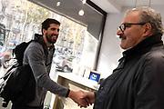 Ariel Filloy, Romeo Meo Sacchetti<br /> Nazionale Italiana Maschile Senior - Arrivo al Ritiro di Torino<br /> FIP 2017<br /> Torino, 20/11/2017<br /> Foto M.Ceretti / Ciamillo-Castoria