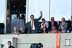 Blackpool owner Simon Sadler waves to the fans as they cheer his name - Mandatory by-line: Robbie Stephenson/JMP - 03/08/2019 - FOOTBALL - Bloomfield Road - Blackpool, England - Blackpool v Bristol Rovers - Sky Bet League One