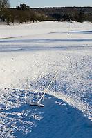 PAPENDAL - Besneeuwde baan van de Edese Golfclub. Copyright Koen Suyk.
