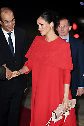 February 24, 2019 - Casablanca, Morocco - Image licensed to i-Images Picture Agency. 23/02/2019. Casablanca, Morocco. Prince Harry and Meghan Markle, The Duke and Duchess of Sussex, arriving at Casablanca airport at the start of their Royal Tour to Morocco. (Credit Image: © Pool/i-Images via ZUMA Press)