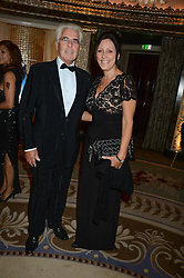 MAX CLIFFORD and his wife JO CLIFFORD at the inaugural Stephen Lawrence Memorial Ball held at The Dorchester, Park Lane, London on 17th October 2013.