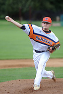 Northampton pitcher C. J. Kilgariff throws a pitch against Falls in the 3rd inning at Cairn University Tuesday July 14, 2015 in Langhorne, Pennsylvania.  (Photo by William Thomas Cain)