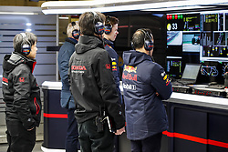 February 21, 2019 - Barcelona Barcelona, Espagne Spain - Honda engineers working in the Red Bull Racing garage during Formula 1 winter tests from February 18 to 21, 2019 at Barcelona, Spain - Photo  Motorsports: FIA Formula One World Championship 2019, Test in Barcelona, (Credit Image: © Hoch Zwei via ZUMA Wire)