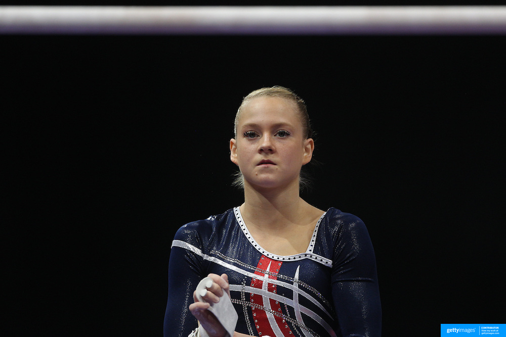 Abigail Milliet, Denton, Texas, in action during the Senior Women Competition at The 2013 P&G Gymnastics Championships, USA Gymnastics' National Championships at the XL, Centre, Hartford, Connecticut, USA. 17th August 2013. Photo Tim Clayton