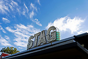 An old looking store sign on South Congress Avenue in Austin, Texas