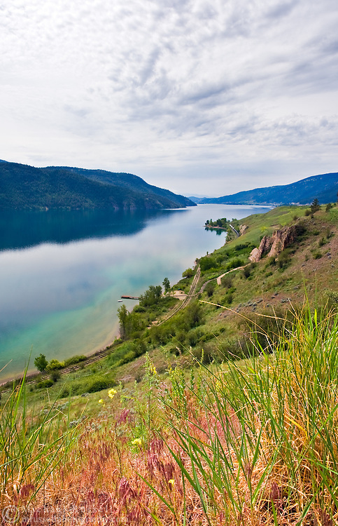 Morning on the shores of Kalamalka Lake in Vernon, British Columbia, Canada