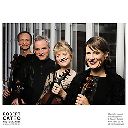 Rolf Gjelsten;Douglas Beilman;Gillian Ansell;Helene Pohl (New Zealand String Quartet)  at Victoria University, Wellington, New Zealand.