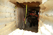 SHENZHEN, CHINA - DECEMBER 24:  China Out - Finland Out<br /> <br /> Border Police Find Secret Smuggling Tunnel<br /> <br /> General view of an uncompleted 40-meter-long tunnel built by smugglers under Changling village near the border of Shenzhen and Hong Kong on December 24, 2013 in Shenzhen, Guangdong Province of China. Border police discovered the tunnel on December 19 and have controlled the house owner.<br /> ©Exclusivepix