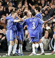 Photo: Marc Atkins.<br /> Chelsea v Newcastle United. The Barclays Premiership. 13/12/2006. Didier Drogba celebrates scoring the 1st goal for Chelsea.