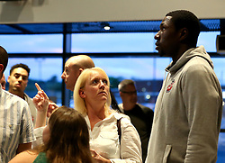 Daniel Edozie of Bristol Flyers mingles with guests - Mandatory by-line: Robbie Stephenson/JMP - 12/09/2016 - BASKETBALL - Ashton Gate Stadium - Bristol, England - Bristol Flyers Sponsors Event