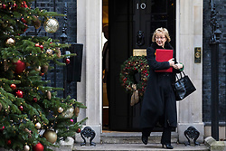 © Licensed to London News Pictures. 19/12/2017. London, UK. Leader of the House of Commons Andrea Leadsom leaves 10 Downing Street after the weekly Cabinet meeting. Photo credit: Rob Pinney/LNP