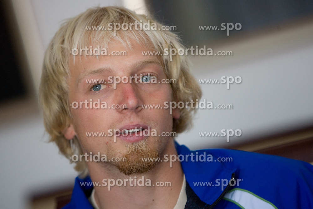 Jost Zakrajsek at press conference of Kayak and Canoe Federation of Slovenia, on November 12, 2009, in Arena Tivoli, Ljubljana, Slovenia.  (Photo by Vid Ponikvar / Sportida)