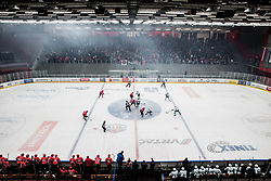 Arena during ice hockey match between HDD SIJ Acroni Jesenice and HK SZ Olimpija in 10th Round of AHL - Alps Hockey League 2017/18, on October 14, 2017 in Arena Podmezakla, Jesenice, Slovenia. Photo by Vid Ponikvar / Sportida