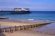 AMHK1A Cromer pier and beach Norfolk England
