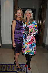 Left to right, KATIE GASS of Jumeriah and INGRID ROOSEN-TRINKS of Mont Blanc at the 2012 Luxury Briefing Awards in association with Bloomberg held at the Corinthia Hotel, London on 14th March 2012.
