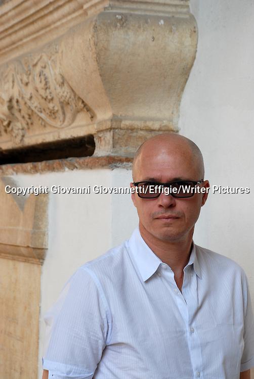 Aleksandar Hemon, Festivaletteratura Mantova, Bosnian American fiction writer, essayist, and critic.<br /> 06 September 2014<br /> <br /> Photograph by Giovanni Giovannetti/Effigie/Writer Pictures <br /> <br /> NO ITALY, NO AGENCY SALES