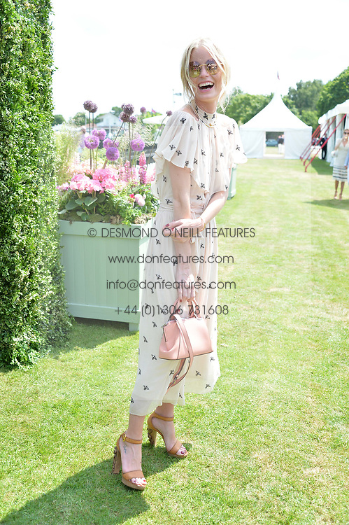 Caroline Winberg at Cartier Queen's Cup Polo, Guard's Polo Club, Berkshire, England. 18 June 2017.<br /> Photo by Dominic O'Neill/SilverHub 0203 174 1069 sales@silverhubmedia.com