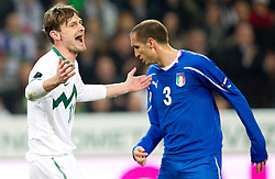 Milivoje Novakovic of SLovenia during EURO 2012 Quaifications game between National teams of Slovenia and Italy, on March 25, 2011, SRC Stozice, Ljubljana, Slovenia. Italy defeated Slovenia 1-0.  (Photo by Vid Ponikvar / Sportida)