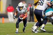 San Diego Chargers running back Danny Woodhead (39) runs upfield during an NFL game against the Jacksonville Jaguars at EverBank Field on Oct. 20, 2013 in Jacksonville, Florida. San Diego won 24-6.<br /> <br /> &copy;2013 Scott A. Miller