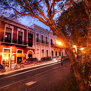 Street next to Plaza de Colon in Old San Juan, Puerto Rico, night of March 21, 2011. According to Google Maps it's Cll Odonell.