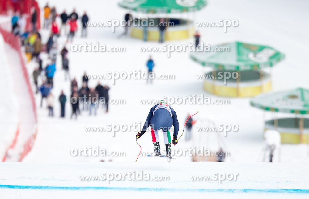 19.01.2016, Streif, Kitzbuehel, AUT, FIS Weltcup Ski Alpin, Kitzbuehel, 1. Abfahrtstraining, Herren, im Bild Dominik Paris (ITA) // Dominik Paris of Italy in action during 1st Training of the men's Downhill Race of Kitzbuehel FIS Ski Alpine World Cup at the Streif in Kitzbuehel, Austria on 2016/01/19. EXPA Pictures © 2016, PhotoCredit: EXPA/ Johann Groder