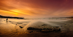 A photographer records the sunset on the beach at Balivanich, Benbecula, Outer Hebrides, Scotland<br /> <br /> (c) Andrew Wilson   Edinburgh Elite media