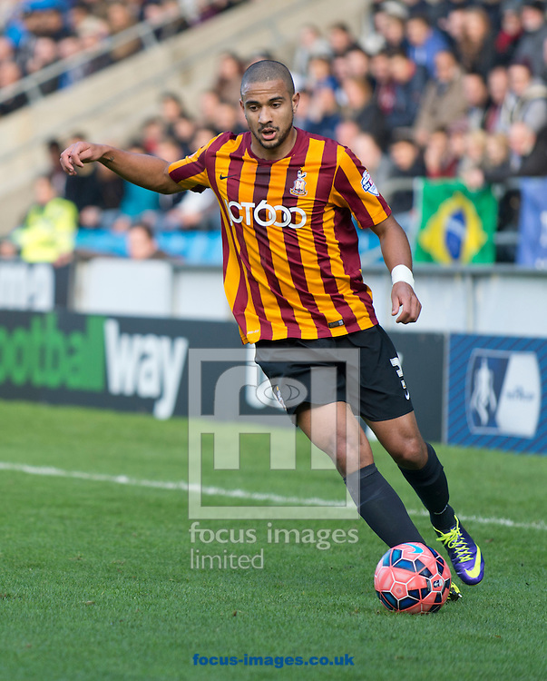James Meredith of Bradford City during the The FA Cup match at Shay Stadium, Halifax<br /> Picture by Russell Hart/Focus Images Ltd 07791 688 420<br /> 09/11/2014