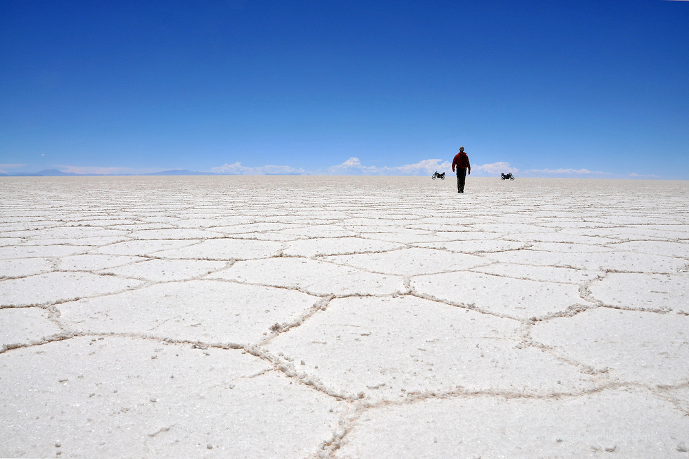 Walking on the Salar de Uyuni, Bolivia