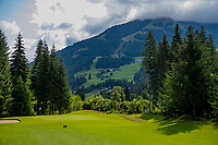 WESTENDORF -  Tirol   Oostenrijk,  -  hole 4. Golfanlage Kitzbuheler Alpen Westendorf.    COPYRIGHT KOEN SUYK