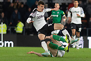 Curtis Davies (33) & Adam Reach (20) during the EFL Sky Bet Championship match between Derby County and Sheffield Wednesday at the Pride Park, Derby, England on 11 December 2019.