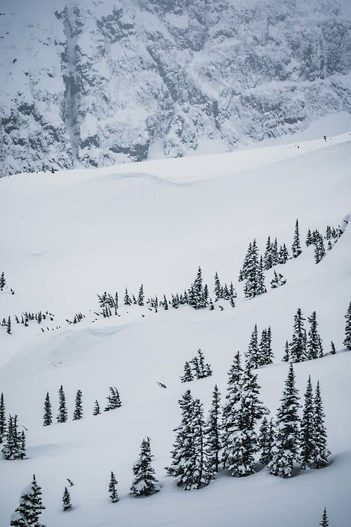 The terrain above Burnie Glacier, Howson Range, BC.